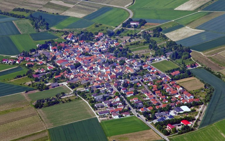 Gau-Weinheim von oben